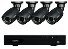 HeritageHD Series 4-Channel 720p 1TB Surveillance System with 4 HD Camera and 80 ft